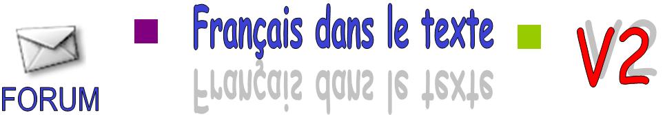 Français dans le texte
